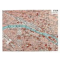 500ピース ジグソーパズル パリのマップ パズル 木製パズル 動物 風景 絵 ピクチュアパズル Puzzle 52.2x38.5cm