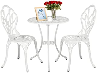 Prime Amazon Com White Patio Furniture Sets Home Remodeling Inspirations Cosmcuboardxyz