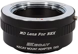 KECAY Lens Mount Adapter for Minolta MD MC Lens To Sony NEX E-Mount Camera, fits NEX-3, NEX-5, NEX-5C, NEX-5N, NEX-6, NEX-7, NEX-F3, NEX-VG10 etc, MD To NEX, MC To NEX