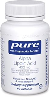 Pure Encapsulations Alpha Lipoic Acid 400 mg | ALA Supplement for Liver Support, Antioxidants, Nerve and Ca...
