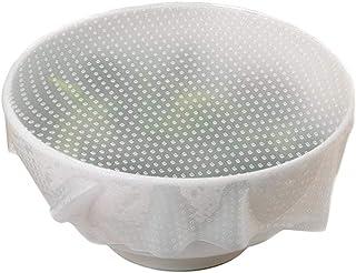 6 قطع بريميوم جودة سيليكون ختم أغطية أوعية وأغطية طعام قابلة لإعادة الاستخدام الحفاظ على الطعام طازج التفاف البلاستيك للأط...