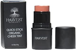 Harvest Natural Beauty - Quick-Stick Organic Cheek Tint - Organic Cream Blush - 100% Natural and Certified Organic - Non-Toxic, Vegan and Cruelty Free (Sienna)