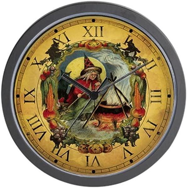 CafePress Vintage Witch Clock Unique Decorative 10 Wall Clock