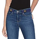 Invisible Belts for Women,No Buckle No Show Elastic Belts for Jeans and Pants Blue Color