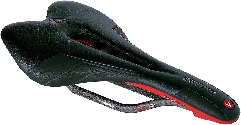 ASTVTE (Astute) Saddle Skylights VT 3.0 Piraruga [SKYLITE VT 3.0 PILARGA] Black   Red Carbon Rail Perforated 190g W145   L275 Saddle Shape   Flat 0SK30VTPLTRS250