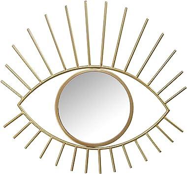 Stratton Home Décor Stratton Home Decor Gold Metal Eye Wall Mirror