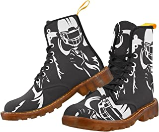 Artsadd Fashion Shoes Football Lace Up Boots For Women