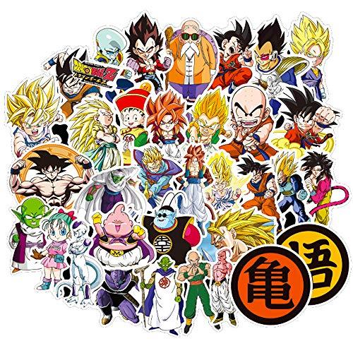 Cartoon Dragon Ball Anime Aufkleber Reise Laptop Skateboard Gitarre Gepäck Graffiti wasserdichte Kinder Aufkleber Cool Toy 30Pcs