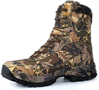 cungel Men's Camo Hunting Boots,Waterproof Hiking Boots Outdoor,High-top Tactical Boot, Breathable Fishing Climbing Desert Combat Boots