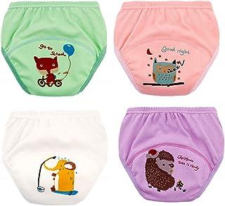 Morbuy-Shop, Pantalones de Entrenamiento para Bebé, Morbuy Reusable Calzones de Entrenamiento Ropa Interior de Entrenamiento Bragas de Aprendizaje para Niño Niña, 1-6 Edad, 4 Piezas