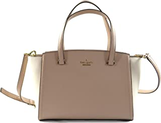 Kate Spade Small Geraldine Patterson Drive Leather Women's Medium Crossbody Bag Purse Handbag, Beige Cement