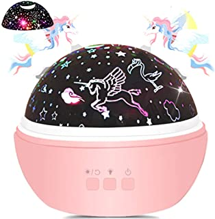 Unicorn Gifts for Girls Star Night Light Projector Toys for Kids Toddlers, GILR Gifts for 1 2 3 4 Years Old, Baby Nursery ...