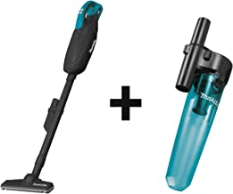 Makita XLC01ZB 18V LXT Lithium-Ion Cordless Vacuum, Tool Only, with 199553-5 Cyclonic Vacuum Attachment