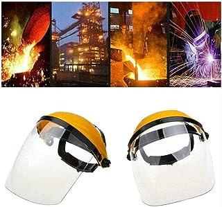 Safety Welding Helmet Welder Lens Grinding Shield Visor Radiation Face Mask丨Safety Face Eye Protect Shield Clear Grinding Solder Glasses Welding Helmet| Weld Hood Helmet