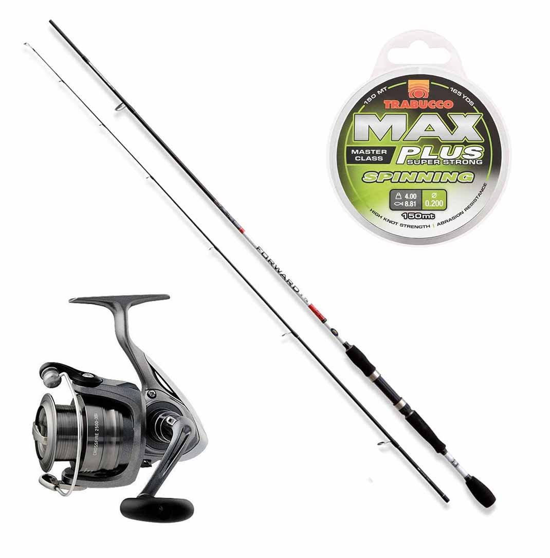 Kit Trout Area caña Forward II 180 cm + Carrete Daiwa CrossFire 30 ...