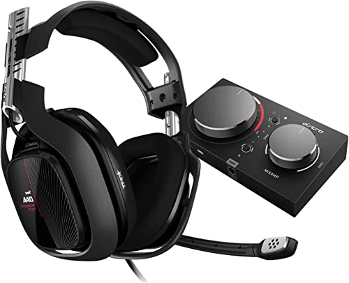 ASTRO Gaming A40 TR Wired Gaming Headset + MixAmp Pro TR, Astro Audio V2, Dolby Audio, Dolby ATMOS, Swappable Mic, Ga...