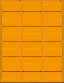 Compulabel Fluorescent Orange Address Labels for Laser Printers, 2 5/8 x 1 Inches Permanent Adhesive, 3-0 Per Sheet, 1000 ...