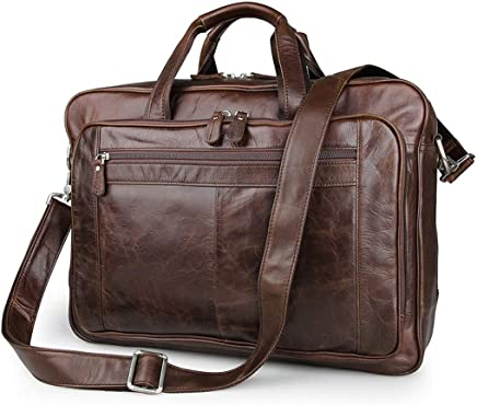 Color : Coffee Color Kirabon Waterproof and Wear-Resistant Mens Messenger Bag.