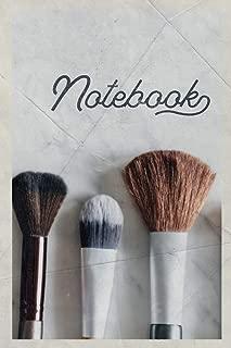 Notebook: Makeup Brush Set Stylish Composition Book Journal Diary for Men, Women, Teen & Kids Vintage Retro Design Beauty Parlor Professionals