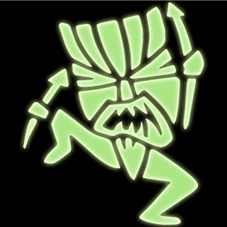 Tiki Witch Doctor Decal Sticker (glow in the dark, 5 inch)