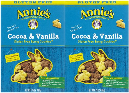 Annie's Homegrown Cocoa & Vanilla Bunny Cookies (Gluten-Free), 6.75 oz, 2 pk