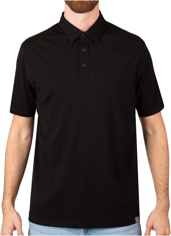 予約販売品 驚きの値段 MERIWOOL Men's Short Sleeve Polo B Shirt Wool Lightweight Merino