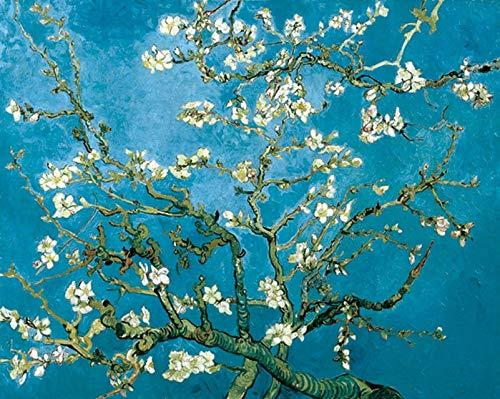 YIYEBAOFU Kein Rahmen Van Gogh Berühmter Druck Leinwand Gemälde Sternennacht Poster Wandbilder für Wohnzimmer Poster und Drucke Wandkunst40x50cm