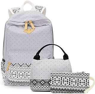 School Backpack Meal Pack Student Bag Children's School Bag Set Youth Shoulder Bag and Lunch Handbag Pencil Case, School Bag 3 Sets (Color : Grey)