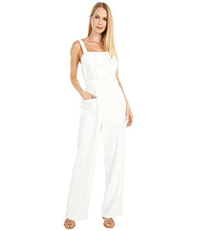 Cupcakes and Cashmere Minerva Heavy Crepe Jumpsuit with Belt and Patch Pockets (Marshmallow) Women