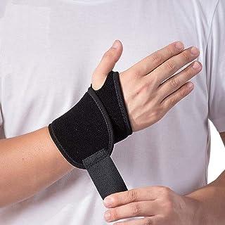 دعم الرسغ/دعم المعصم/دعم اليد، حزام ضغط مريح المعصم/قوس دعم المعصم، مناسب لتمارين رفع الأثقال من اليسار واليمين