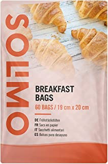 Amazon Brand - Solimo Breakfast Bags - 60 Paper Bags (19 cm x 20 cm)