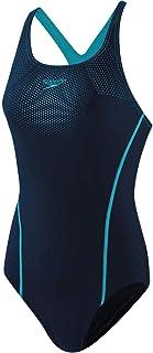 بدلة سباحة نسائية Tech Placement Medalist من Speedo بلون أزرق بحري/مسبح/بحري، 40 (بريطاني 18)