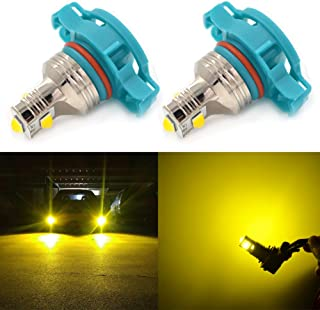 CALAIS PSX24W LED Fog Light Bulbs,2504 LED Bulb,12276 2504 PSX24W Fog Lights Lamp Replacement - CSP Chips 2400 Lumens 3000K Yellow Extremely Super Bright