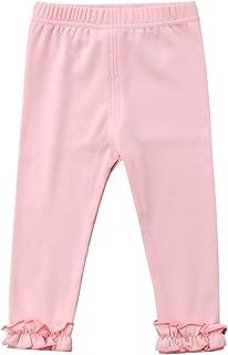 Mubineo Toddler Baby Girl Boy Basic Plain Cotton Leggings Ruffle Cuff Pants