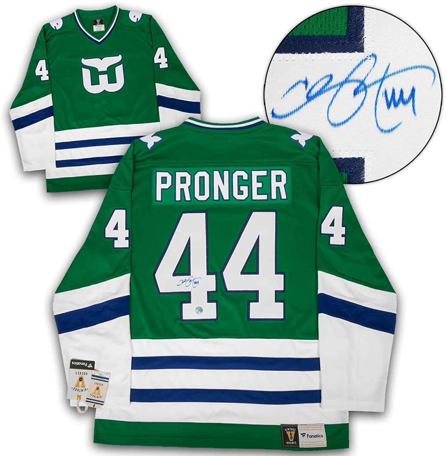 Chris Pronger Hartford Whalers Autographed Fanatics Vintage Hockey Jersey
