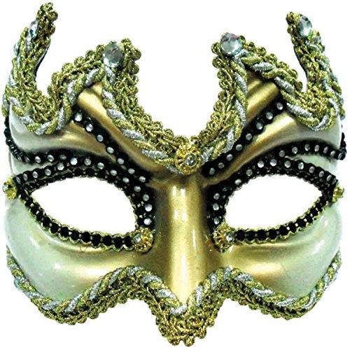 Or moitié mascarade masque avec serre-tête. (un adulte de taille)