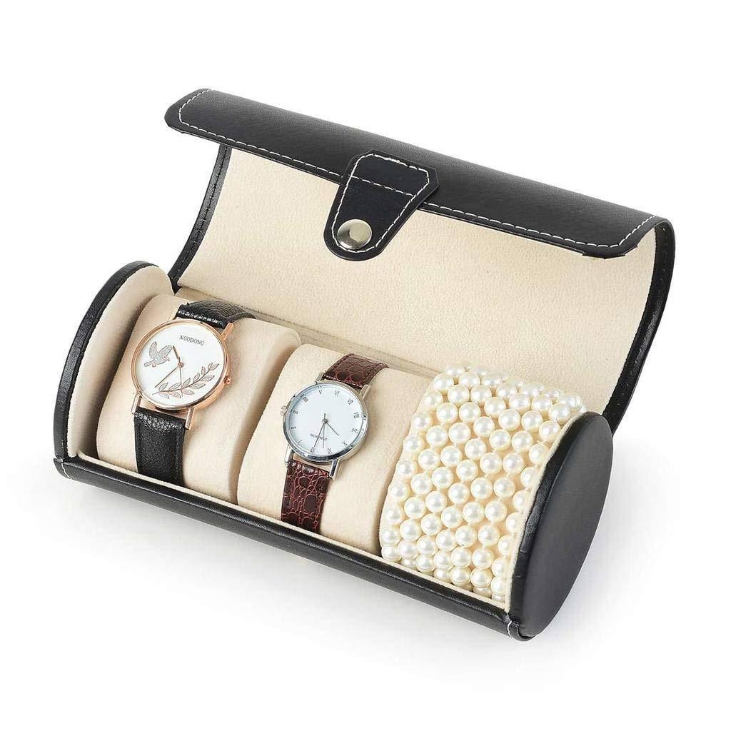 GOVD Caja Guardar Relojes PU Cuero Estuche relojero para Guardar Relojes para Relojes: Amazon.es: Hogar