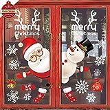 heekpek Pegatinas de Ventana Feliz Navidad Saludos Navidad Decoraciones Navideñas para Es...