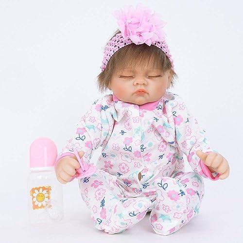 Hongge Reborn Baby Doll,Lebensechte Babypuppe Wachstum Partner Reborn Puppe Spielzeug 55cm