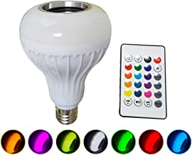 LEDMOMO LED Light Bulb with Integrated Bluetooth Speaker, RGB Changing Lamp Wireless Stereo Audio with Remote Control