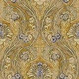 Vintage Wallpaper Blue Wallpaper Floral Wallpaper Damask Wallpaper Victorian Wallpaper Black and Gold Wallpaper Gold Damask Wallpaper Blue Floral Wallpaper