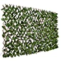 DearHouse Fence Privacy Screen for Balcony Patio Outdoor,Decorative Faux Ivy Fencing Panel,Artificial Hedges (Single Sided Leaves)