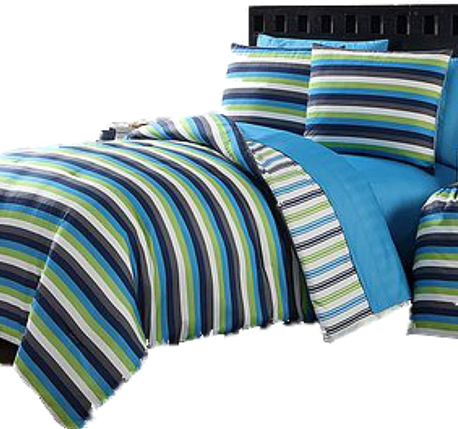 Darby Stripe 11 Piece Bed In A Bag Full