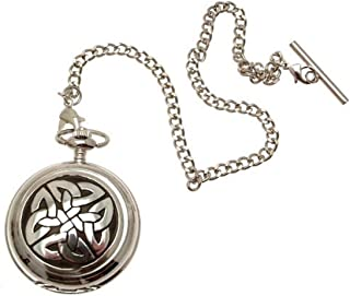 Engraving included - Celtic knotwork pocket watch pewter fronted mechanical design 68
