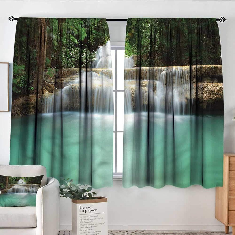 Familytaste Waterfall,Nursery Baby Care Curtains Falling Stream Thailand 42 X54  Indo Treatment Panes