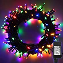 PMS LED String Lights on Dark Green Cable with 8 Light Effects, 338Ft 1000 LED Multicolor Low Voltage Christmas Lights. Ideal for Indoor Decoration, Christmas, Party, Wedding, etc.