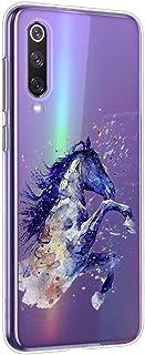 Oihxse Crystal Clear beschermhoes voor Oppo A9 silicone TPU zacht beschermhoes [mooi aquarel dierdesign] stootvast krasbes...