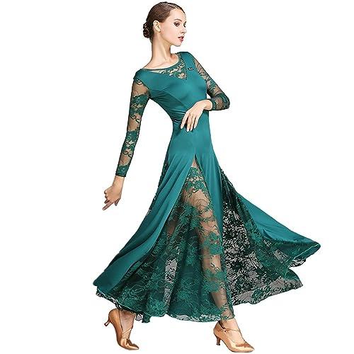 b1cdbaaece3 CHAGME Lace Dress Waltz Dance Skirt Dress Modern Dance Dress National Standard  Dress Cha Cha Skirts