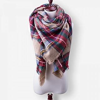 9bc980be99 YsTmS Nouvelle Mode Hiver écharpe pour Femmes Foulard Foulards écossais  Couverture en Cachemire écharpe shalws Chaud