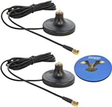HQRP SET: 2 PCS 3M RP-SMA WiFi Antenna Extension Cable Connector Magnetic Base for D-Link DIR-825 / DIR-628 / DGL-4500 / DIR-660 / DIR-615 / DIR-855 / DIR-655 + HQRP Coaster